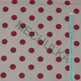 Šedá s puntíky - červeno-režná látka - puntikatá metráž - bavlna empty 06824e753d8