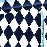 Karnevalová metráž - látka - Bílo-černé kosočtverce empty 45ca4b56a40