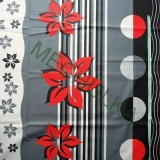 Velký květinový vzor  květy a pruhy-červeno-šedá látka -dekorační metráž -  empty 8d9d6eefc64