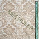 Zámecký béžový květinový ornament - bílá látka - dekorační metráž - bavlna  empty 48d91a743da