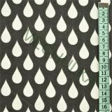Bílé kapky   slzy - černá látka - dekorační metráž - bavlna empty 0debcef96b2