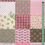 Květinový patchwork - růžová látka - dekorační metráž - bavlna empty b3e82501bed