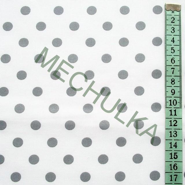 9c4e1f7f8f7b Bavlněné plátno s malými šedými puntíky 9 mm