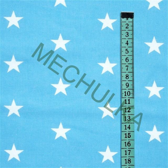 Hvězdičky střední   hvězdy bílé - sv.modrá látka - hvězdičková metráž -  bavlna 4de24ea441