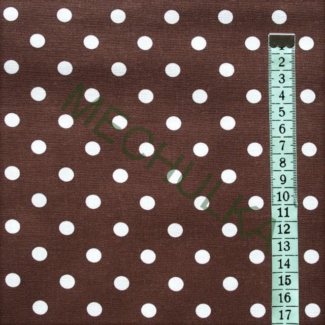 1e2d6e7847af Bavlněné plátno s malými bílými puntíky 9 mm