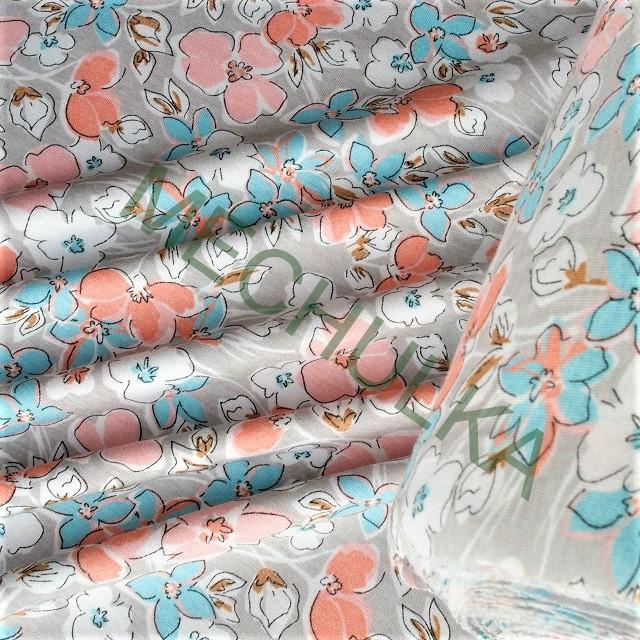 d18a63291a24 Květy korálovo-tyrkysová