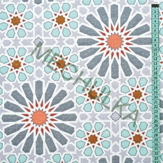 f6569b87b8ab Bavlněné plátno Květinový ornament geometrie