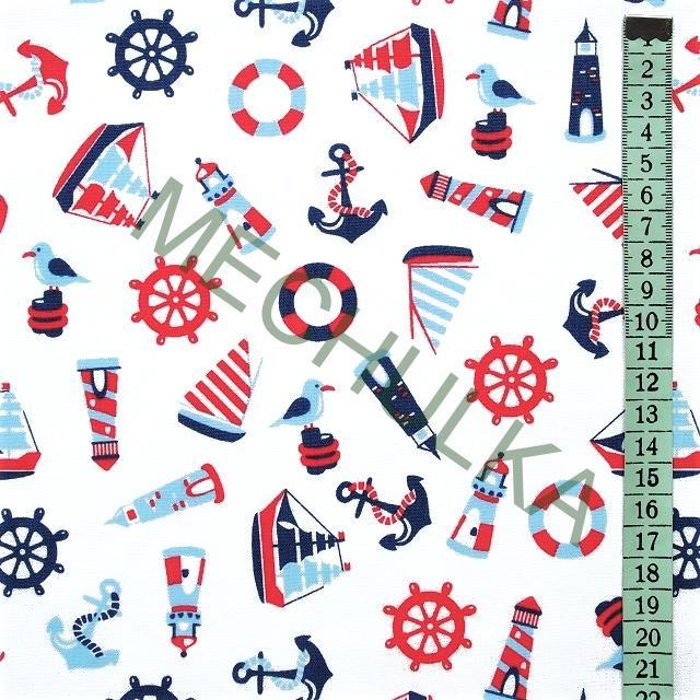 e7e93636b6d4 Dětské bavlněné plátno Plachetnice