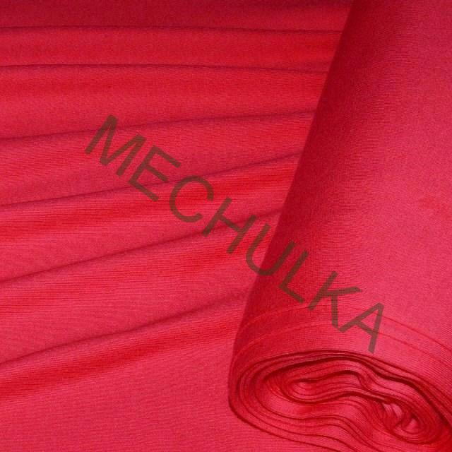 Bavlněný úplet - oboulícní látka - metráž - červený 0eed4005f58