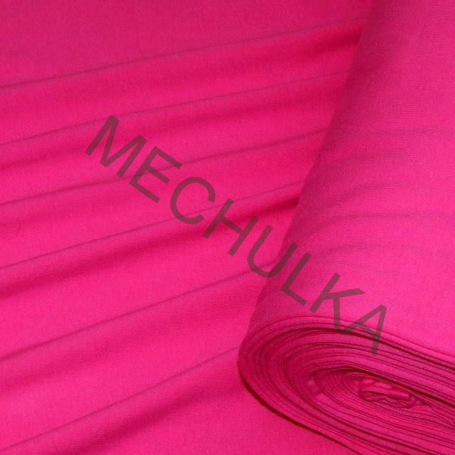 Bavlněný úplet - oboulícní látka - metráž - sytě růžový 94da6516ca