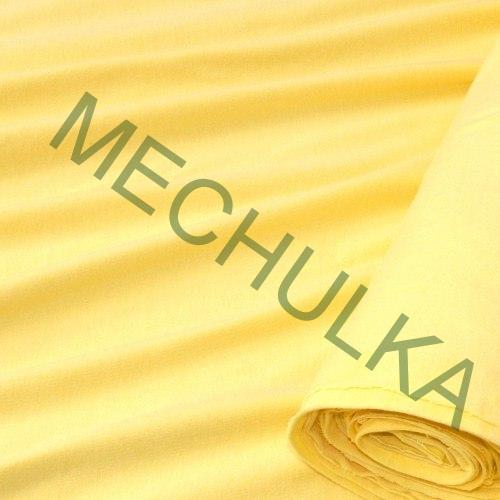 Bavlněný úplet - oboulícní látka - metráž - žlutý vanilkový 7b01e91c020