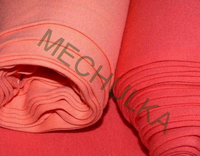 Bavlněný úplet - oboulícní látka - metráž - meruňkový d9a0354dfd9