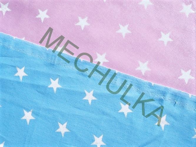 Hvězdičky střední   hvězdy bílé - sv.modrá látka - hvězdičková metráž ca0aef78b2